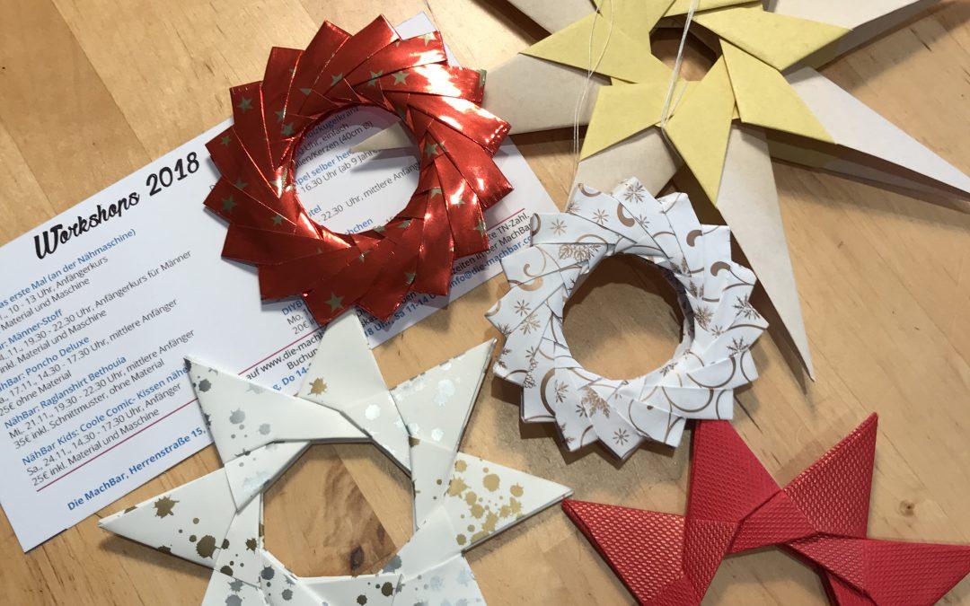 DIY Kids: weihnachtliche Origami-Sterne